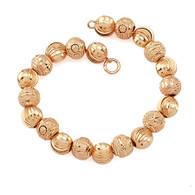 Rose Gold Textured Bracelet