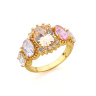 Gold Multicolor Ring