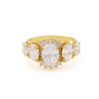 Gold Crystals Ring