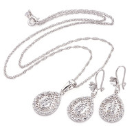 Silver Diamond Set