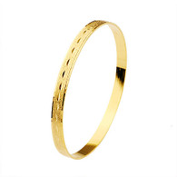 Beautiful Patterned Gold Bangle