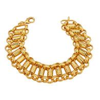 Gold Textured Link Bracelet