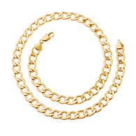 Golden Curb Links Necklace