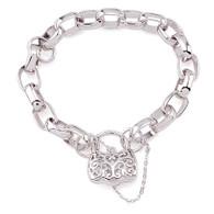 Silver Padlock Bracelet