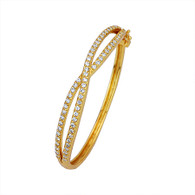 Elegant Crossover Bangle