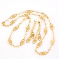 Gold Oblong Patterned Set