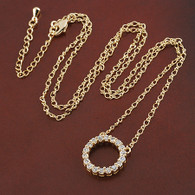Elegant Crystal Circle Necklace