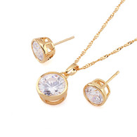 Gold Round Crystal Set