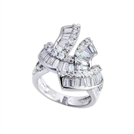 Silver Arty Swirl Ring