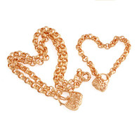 Rose Gold Padlock Set