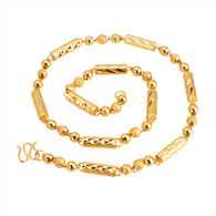 Gold Assorted Bead Necklace