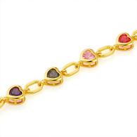 Multicolor Hearts Bracelet