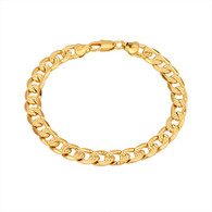 Gold Textured Curb Bracelet