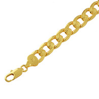 Textured Large Curb Bracelet