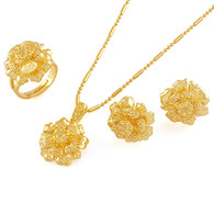 Gold Frosted Flower Set