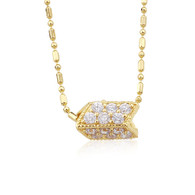 Gold Charm Pendant Necklace
