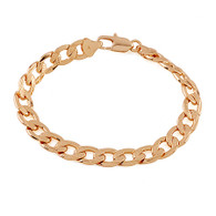 Gold Dotted Curb Bracelet