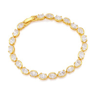 Beautiful Gold Crystal Bracelet