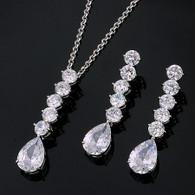 Elegant Silver Crystal Set