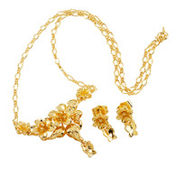 Gold Flower Butterfly Set