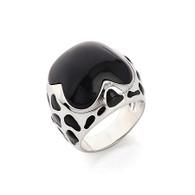 Dalmatian Enamel Ring