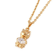 Gold Kitten Pendant Necklace