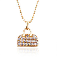 Gold Handbag Pendant Necklace