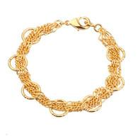 Circles Gold Link Bracelet