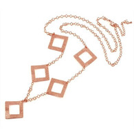 Rose Gold Squares Necklace