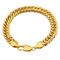 Patterned Gold Curb Bracelet