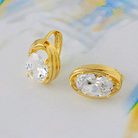Radiant Oblong Gold Earrings