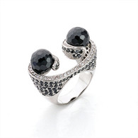 Black Gem Urchin Ring