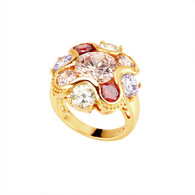 Gold Dazzling Crystal Ring