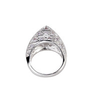 Stylish Silver Cone Ring