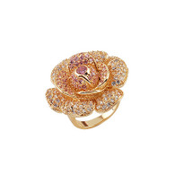 Exquisite Crystal Rose Multicolor Ring