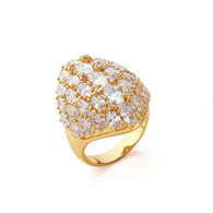 Stunning Gold Cluster Ring
