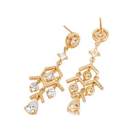 Gold Small Chandelier Earrings