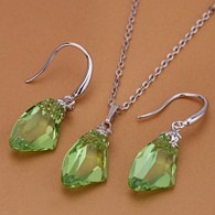 Swarovski Crystal Green Set