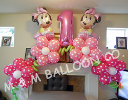 Foils & Topiary Flower Helium Arch