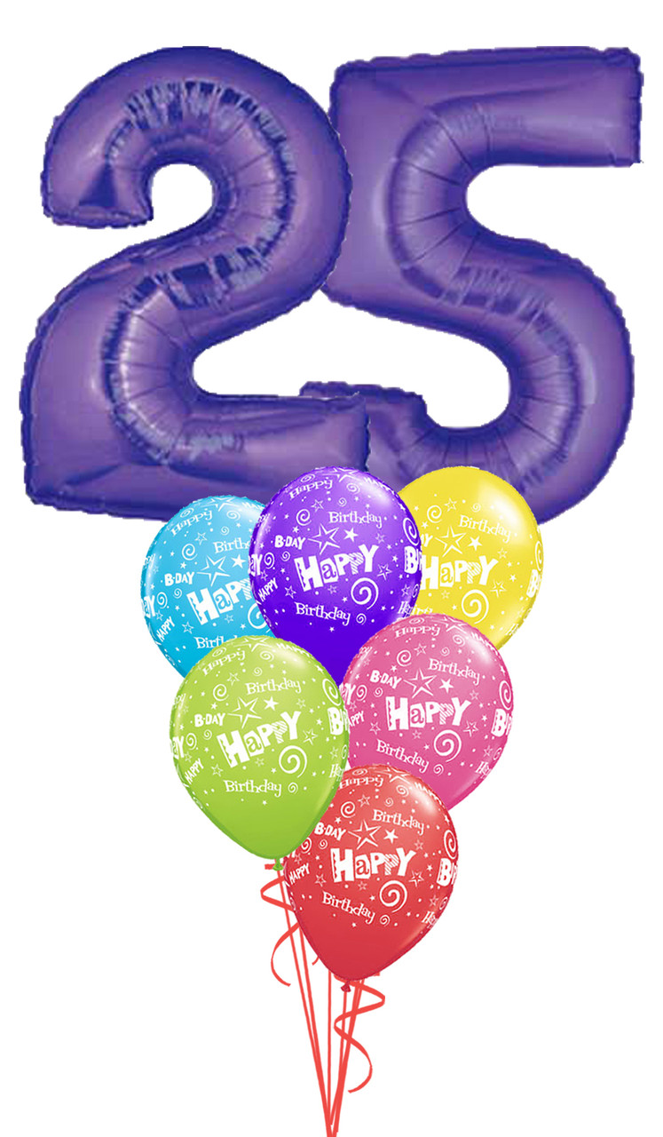 Mega 25th Birthday Bouquet Choice Of Color M M Balloon Co Of Seattle