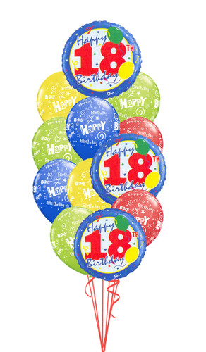 18th Birthday Balloons Confetti Bouquet 5000 Image 1