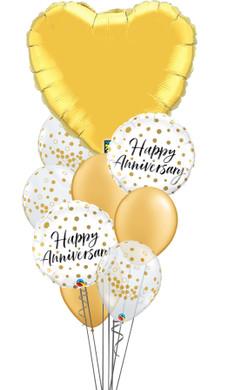 Anniversary Gold Dots Bouquet