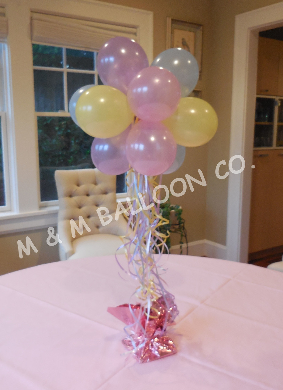 Table Top Topiary On A Stick Centerpieces M M Balloon Co Of Seattle