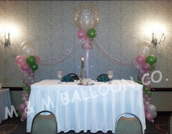 Head Table Backdrop with Roman Columns