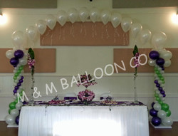Head Table Backdrop with Roman Columns & Pearl Arch