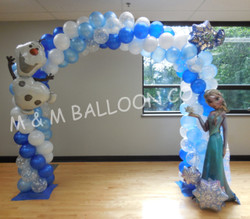 Frozen Themed Arch