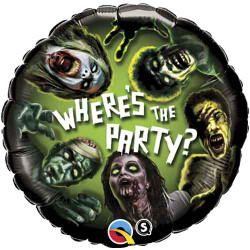 Where's the Party! Zombies Foil