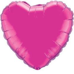 Solid Foil Heart Magenta