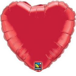 Solid Foil Heart Red