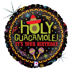 Holy Guacamole Birthday Round